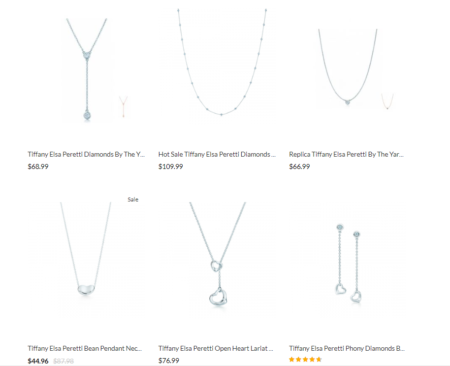 Tiffany Elsa Peretti replica jewelry price